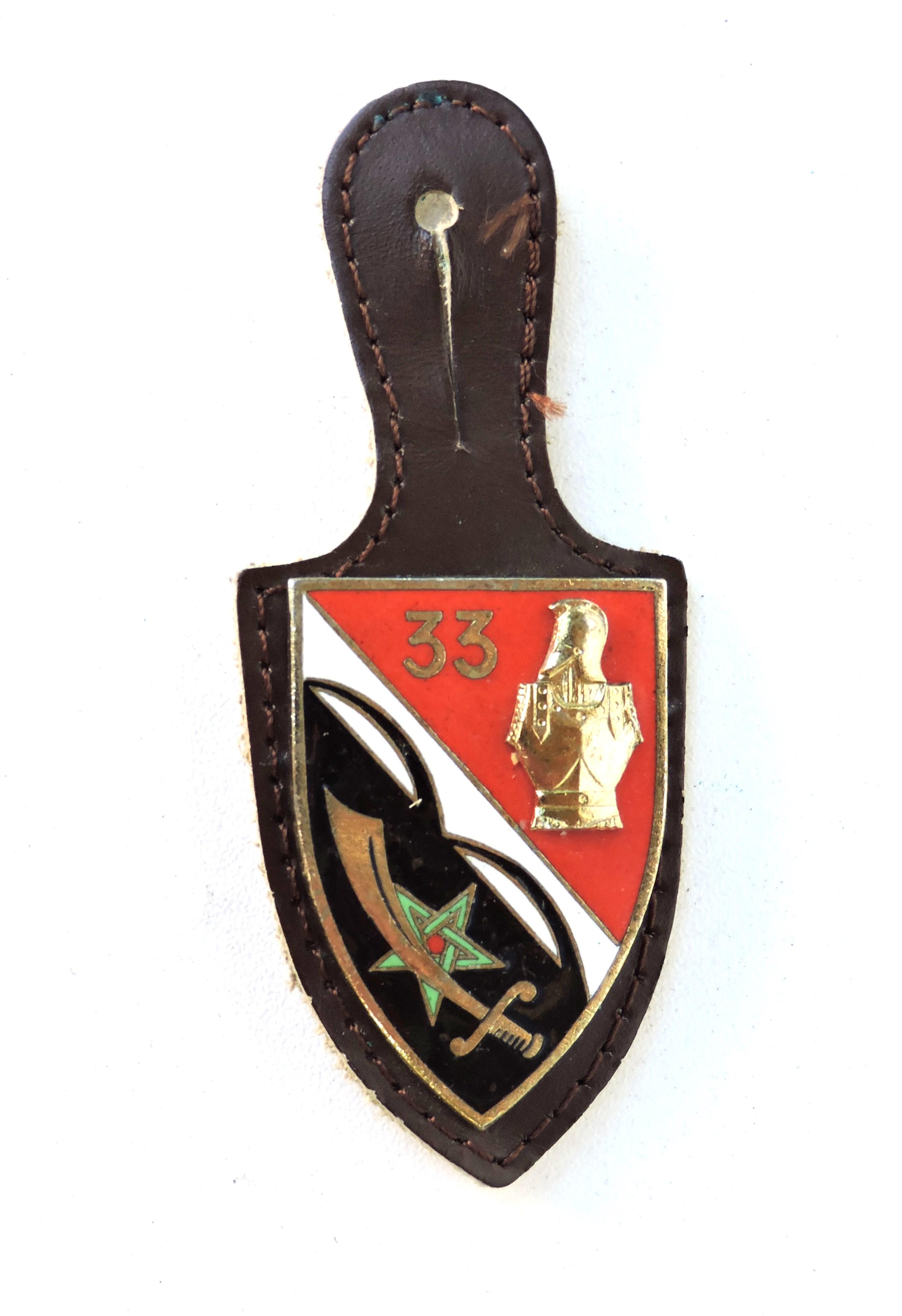Insigne 33° Régiment Du Génie Drago émail